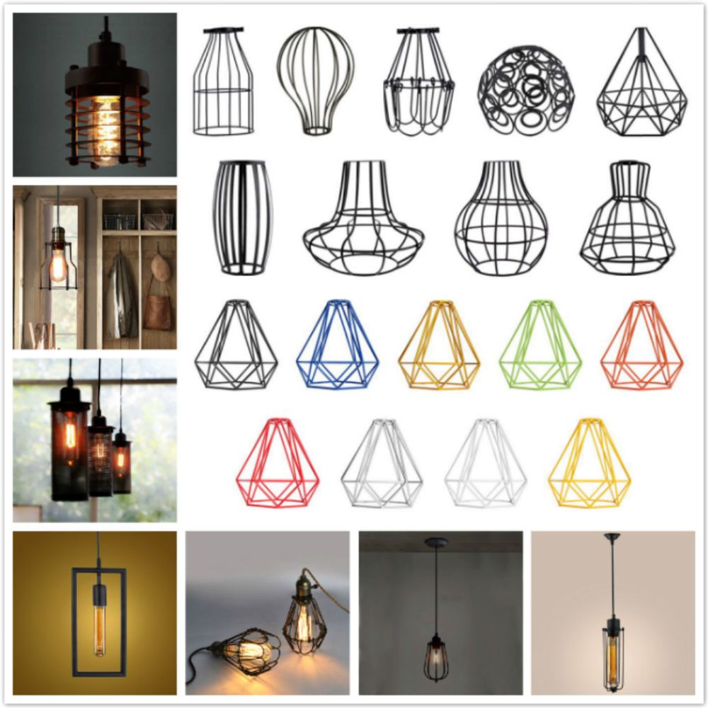 Vintage Retro Metal Ceiling Pendant Light Lampshade Lights Lamp Chandelier Pick Unbranded Modern Hanging Lamp Shade Antique Lamp Shades Small Lamp Shades