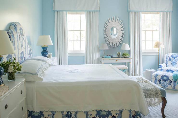White and blue bedroom Habitaciones / camas / Decoración(bedroom