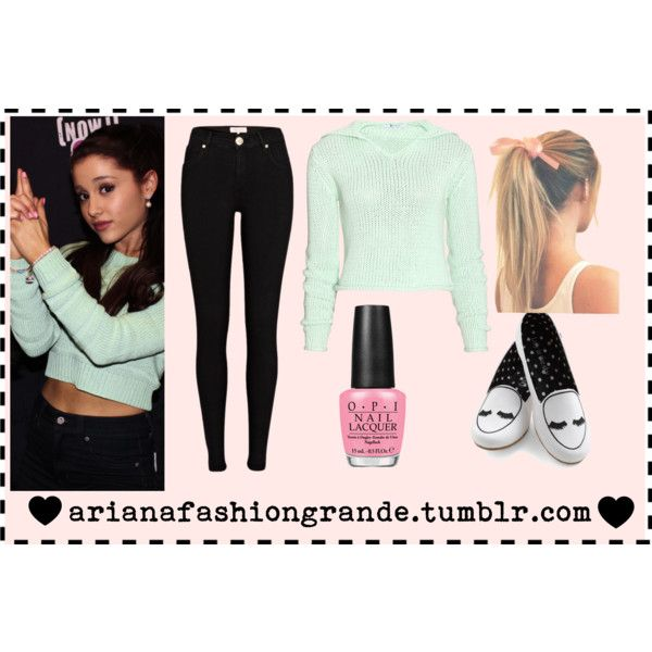 Ariana Grande Outfit Ariana Grande Inspired Outfit Polyvore Hair Bow Ariana Grande Style
