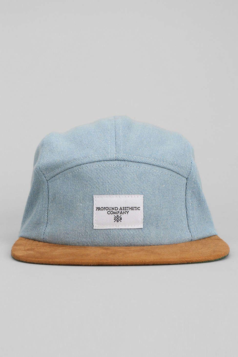 Profound Aesthetic X UO Washed Denim Strapback Hat  f4e1228c8b7