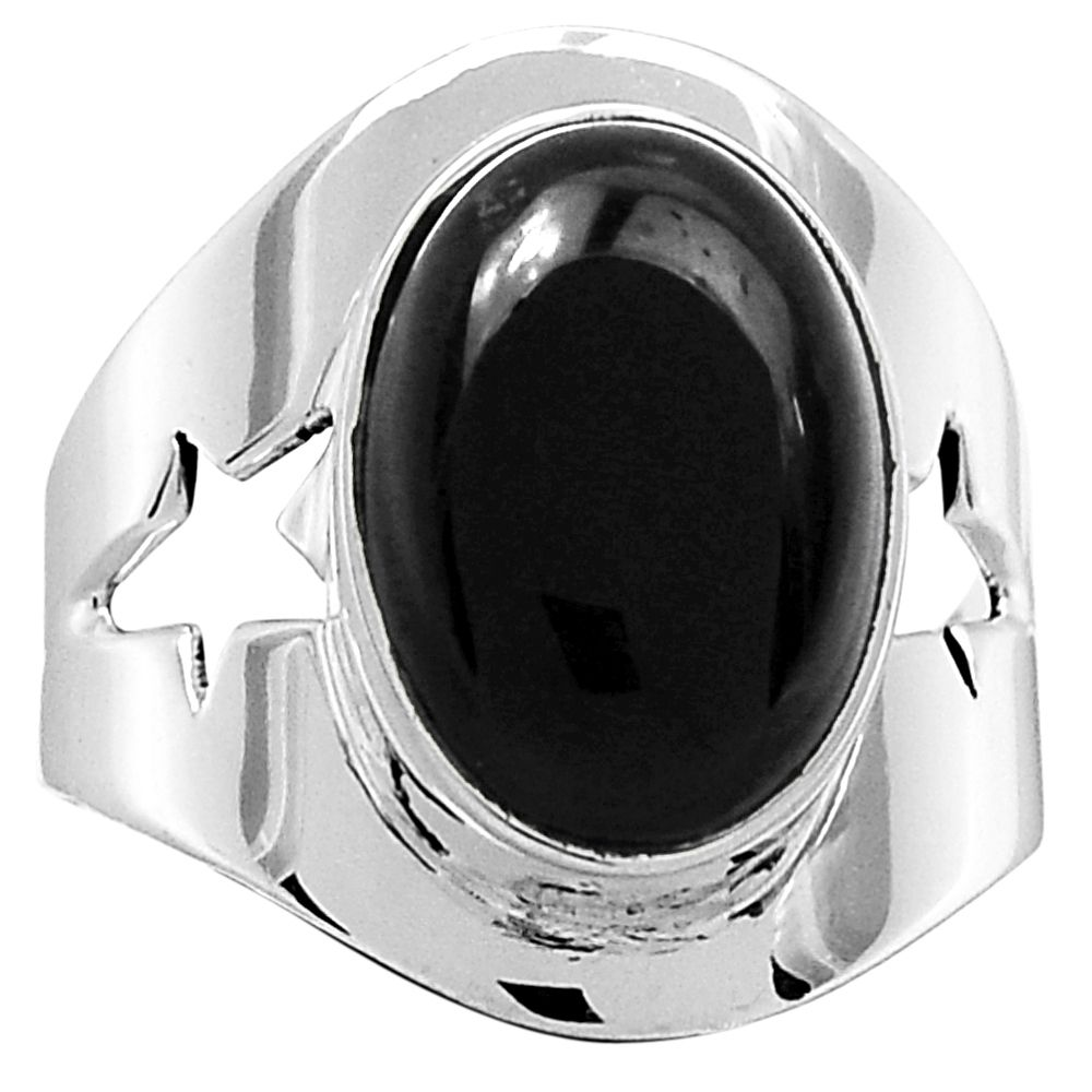 Black Onyx 925 Sterling Silver Ring Jewelry s.7.5 5390R