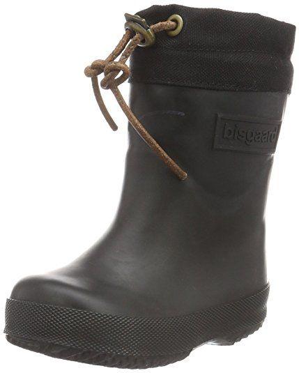 Bisgaard Unisex-Kinder Rubber Boot Winter Thermo Gummistiefel, Schwarz (50 Black), 27 EU