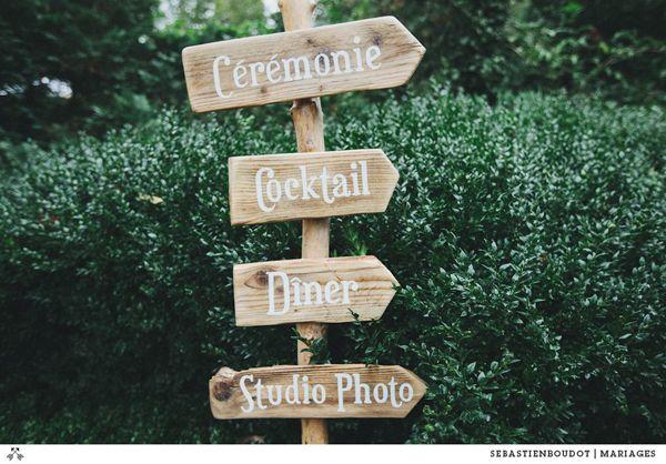 Pancarte bois mariage