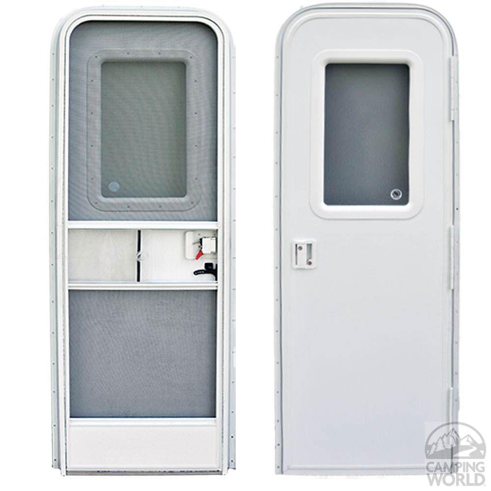 Radius Door Rh 30x72 Polar White Entry Door Hardware And Rv