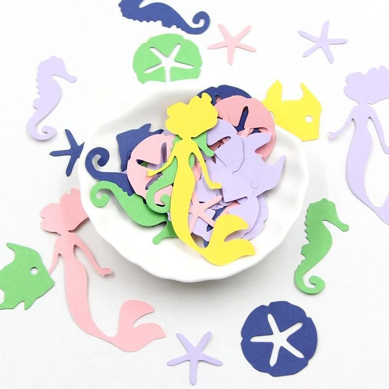 This 100 piece colourful mermaid confetti will be great