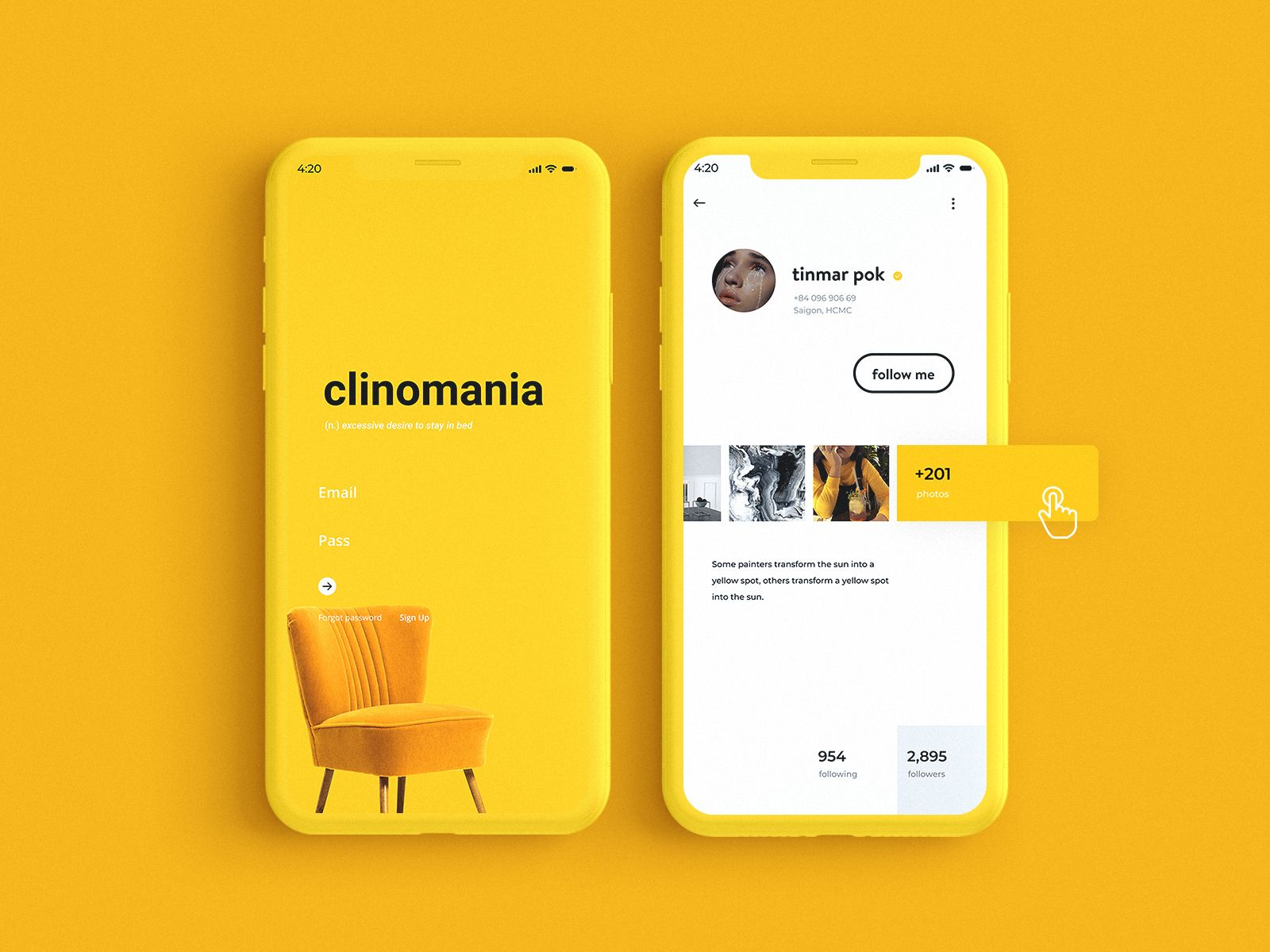 how lovely yellow is ✨ - 2020 | 웹디자인, 앱, 모바일 앱