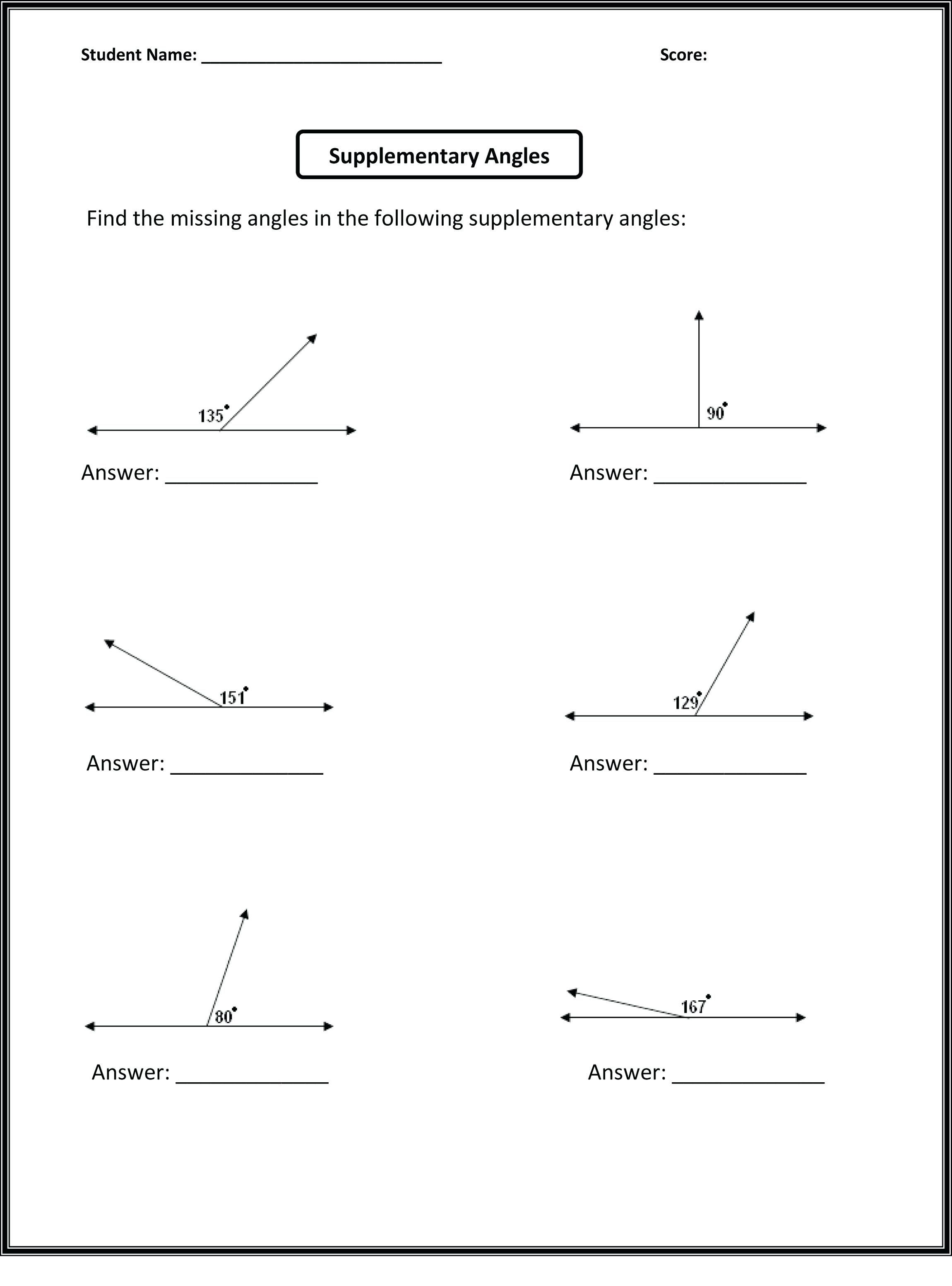 Angles Of Elevation And Depression Worksheet With Answers