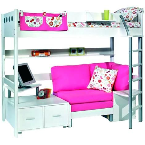 bunk bed with desk and couch. Loft Bed With Desk And Couch Bunk Sofa Underneath A N