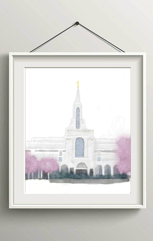 Bountiful Temple, Bountiful Temple Print, Bountiful Temple Art, Temple Instant Download, Temple Printable, LDS Poster, Mormon Printable, lds
