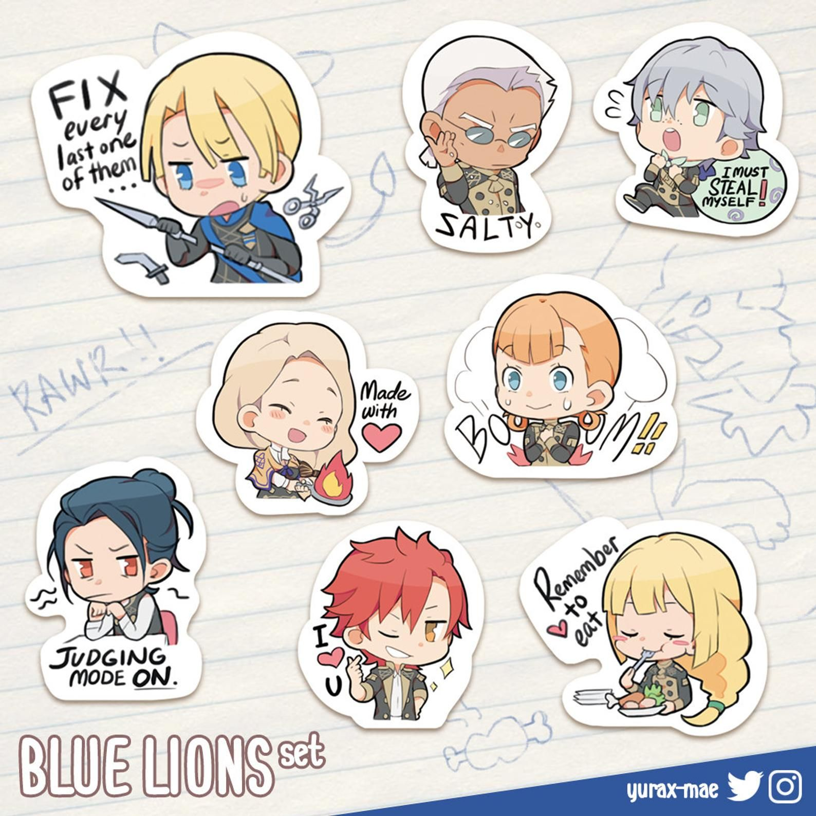 FE3H Meme Stickers (Pre-Order)