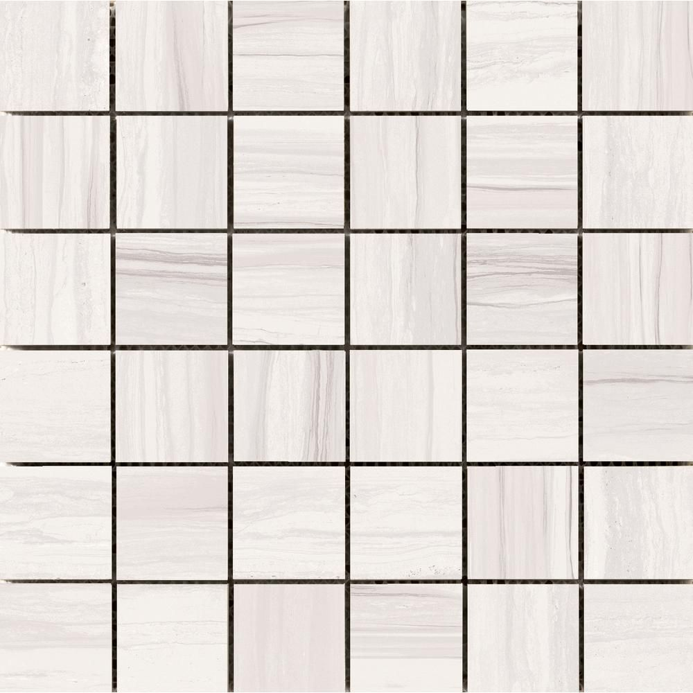 Emser Ciudad Ash 11 81 In X 11 93 In X 10mm Ceramic Mesh Mounted Mosaic Tile 0 99 Sq Ft 1453360 Mosaic Tiles Ceramic Mosaic Tile Border Tiles