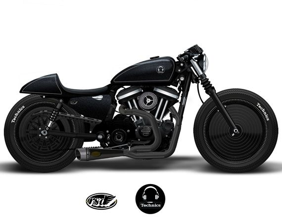 Roland Sands Design x Technics Sporty custom motorcycle