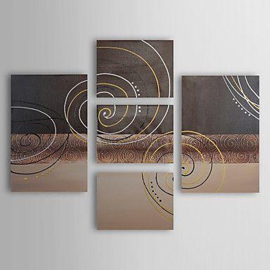 Peinture+à+l'huile+réalisée+à+la+main+abstraite+sur+canevas+tendu+-+Set+de+5+–+EUR+€+139.99