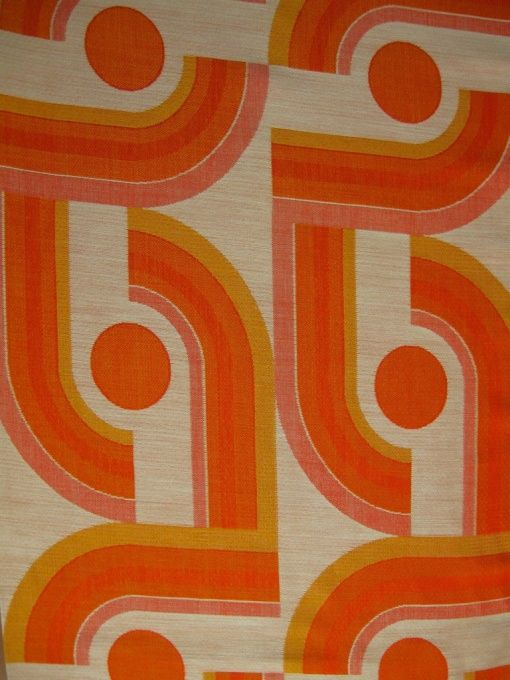 70er Designerstoff Vintage Fabric Curtains Fabric Carpets