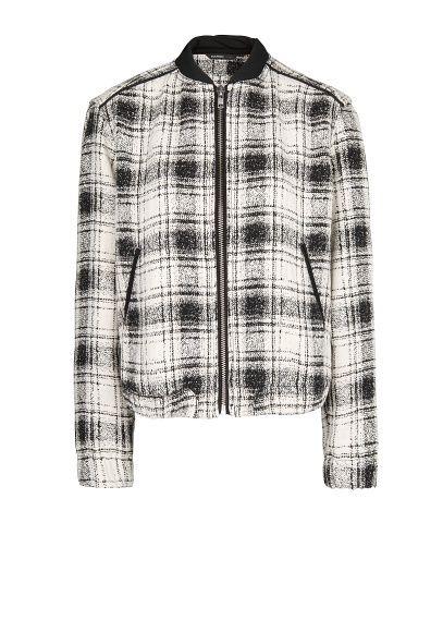 d0c42672c Check bomber jacket - Women   Covetous Coats   Mango clothing ...