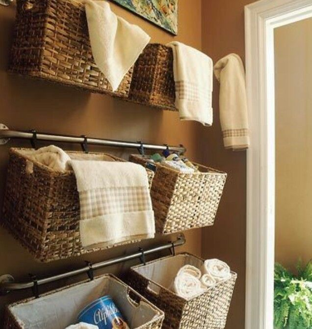 Could We Do This In The Camper Bathroom For Towels And Other Delectable Where To Hang Towels In A Small Bathroom Decorating Design