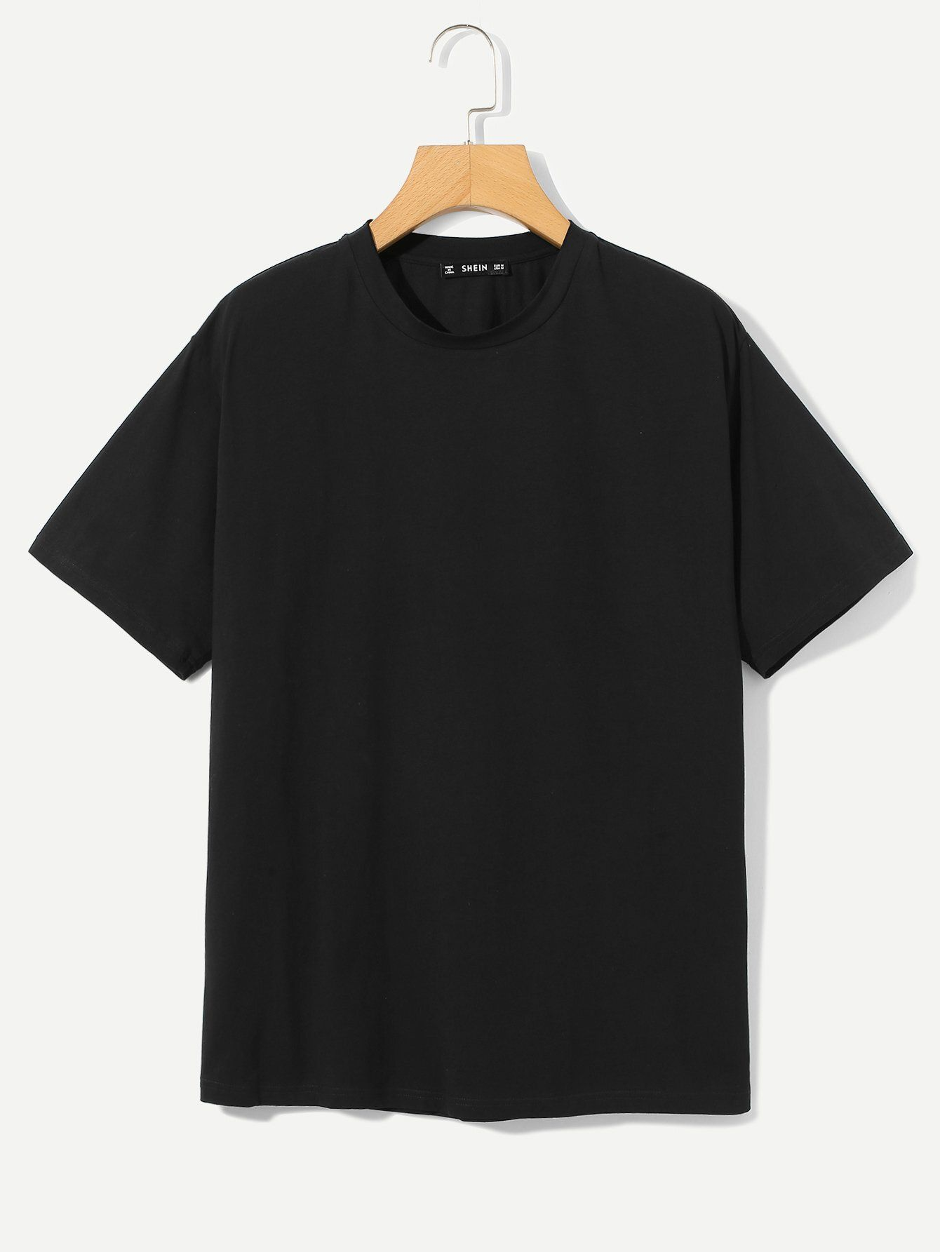 Camiseta Solida De Manga Corta Shein Usa Pakaian Pria Model Pakaian Pria Baju Kaos