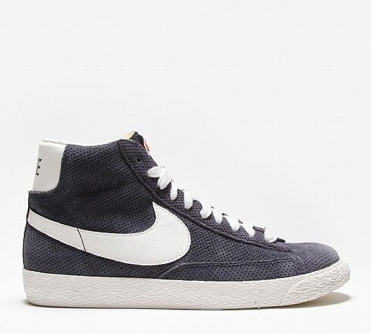 Comprar Zapatillas Nike Blazer Mid Perforated Mujer Blanco Vela Azul Marino Oscuro Baratas Sneakers Sneakers Nike Shoes
