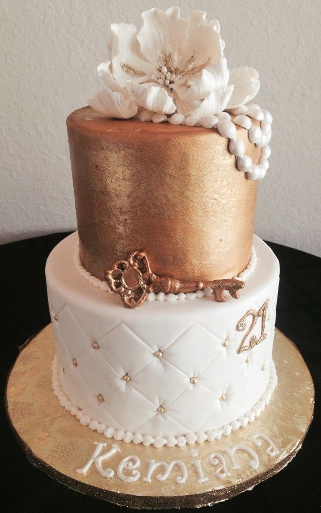 Elegant 21st Birthday Cake Sweeter Than The Rest With Images