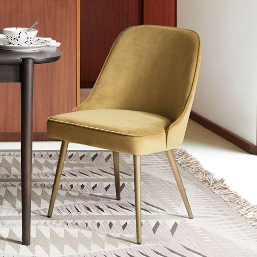 Mid Century Upholstered Dining Chair Velvet Midcentury