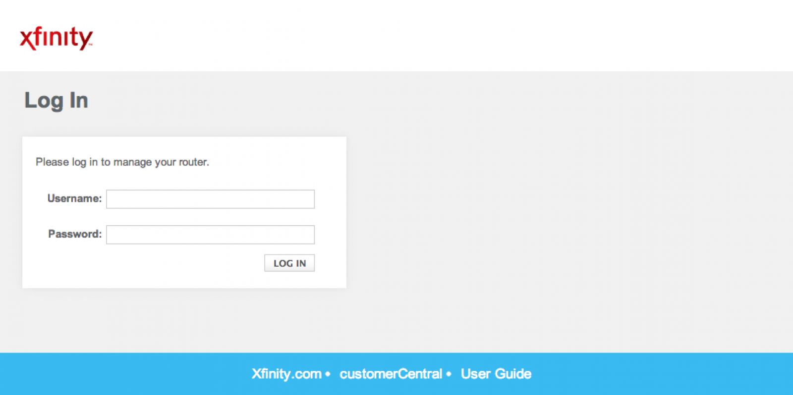 Xfinity Router Login How To Log In To A Comcast Xfinity Router Comcast Xfinity Router Comcast