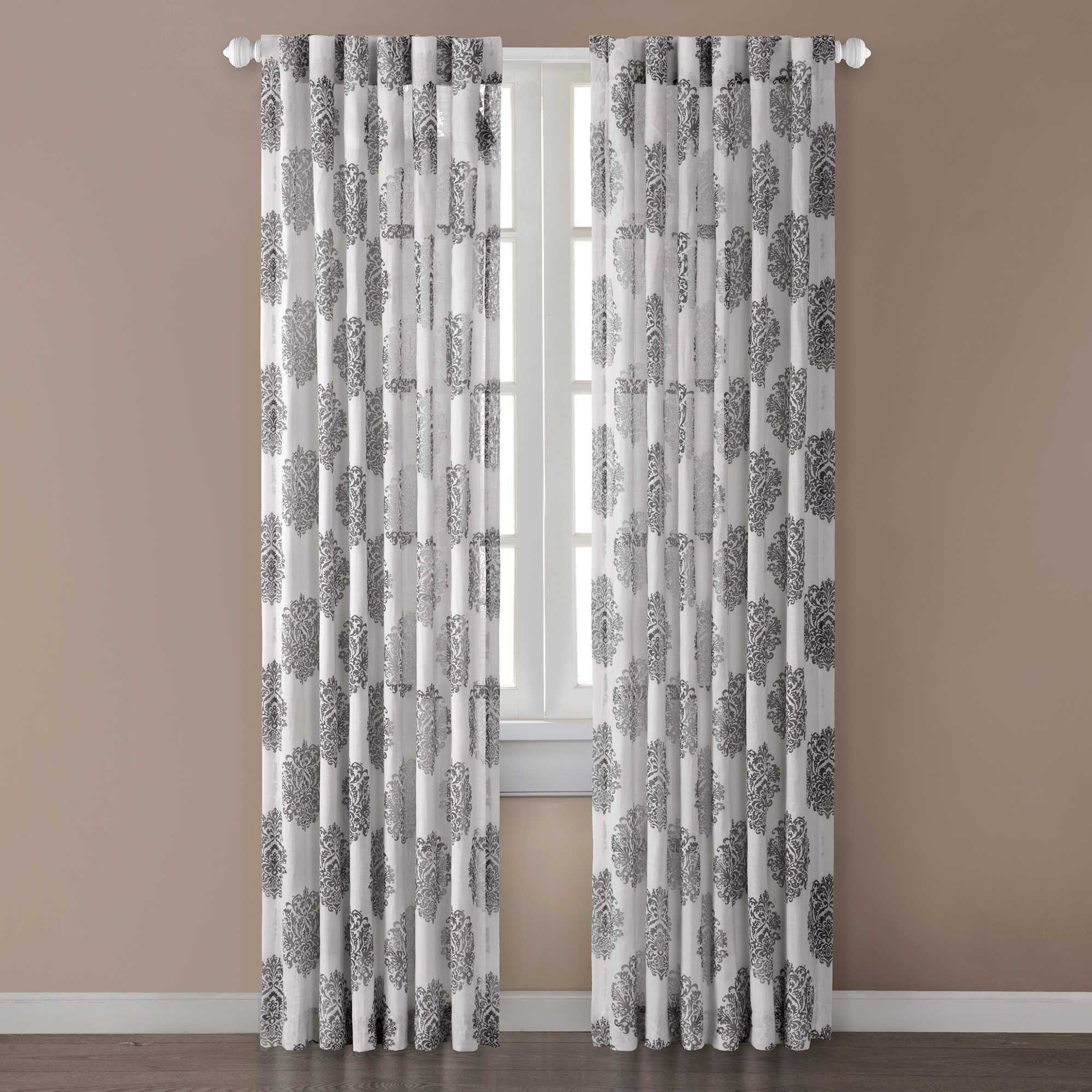 Addison 52 Inch X 84 Inch Window Curtain Panel In Grey Panel