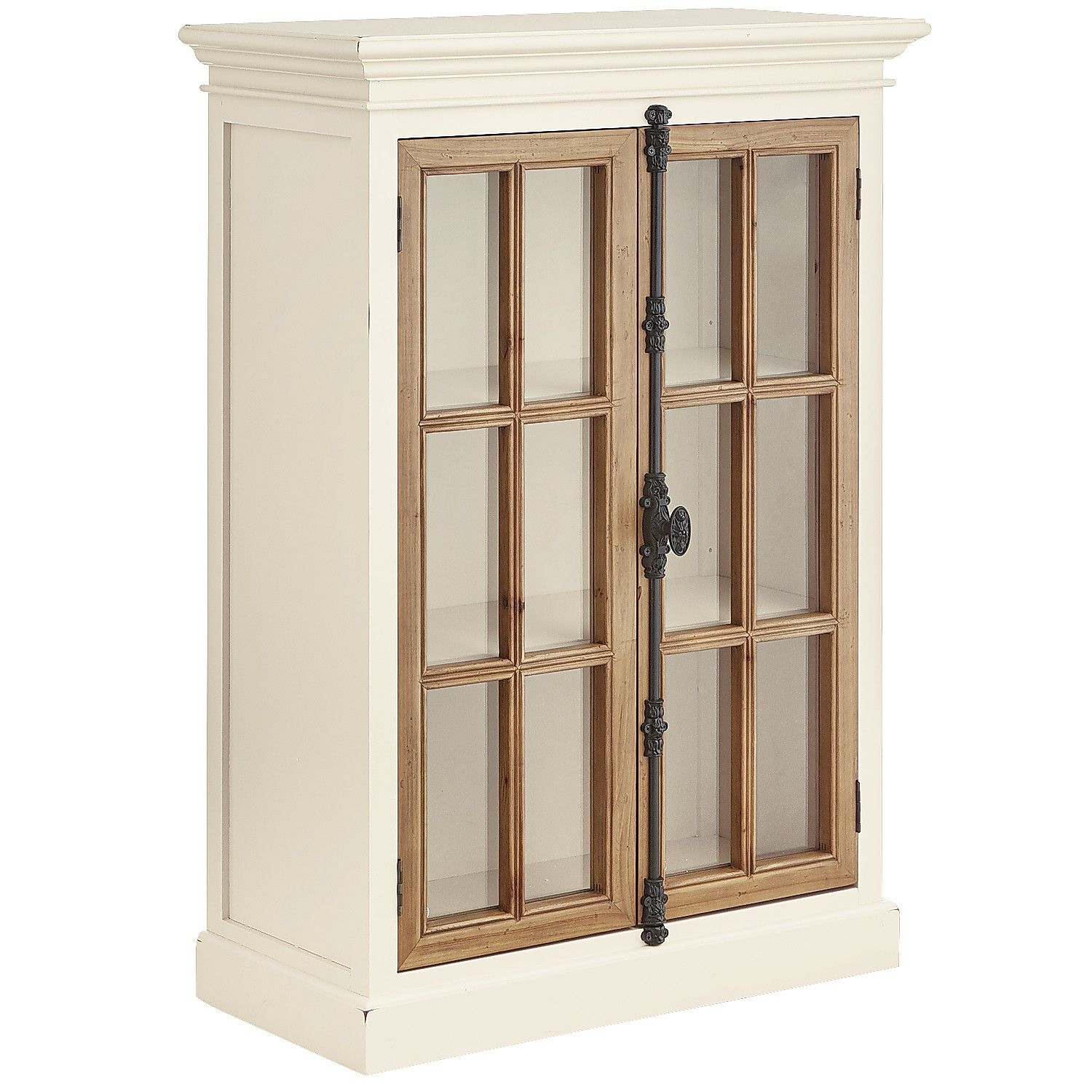Cremone Antique White Low Cabinet