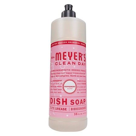 Mrs Meyer S Peppermint Scented Dish Soap 16oz Peppermint Scent Liquid Dish Soap Cleaning