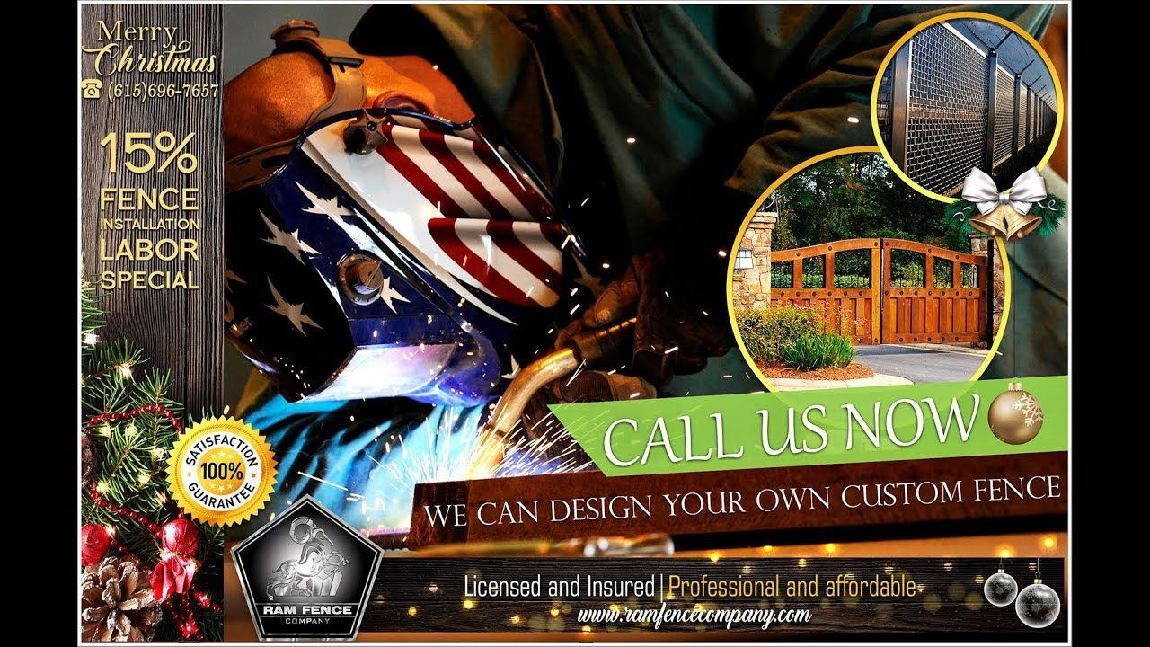 Call us now. We can design your own custom fence - Ram Fence Company