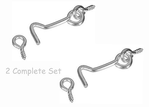 Alazco Gate Hook Eye 2 Complete Sets 2 3 8 Inch In Le Https