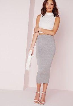 e0c13f8f35 Longline Jersey Midi Skirt Grey | Minimalist Fashion in 2019 ...