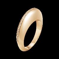 DUNE ring - 18 kt. rosa guld med lysebrune diamanter
