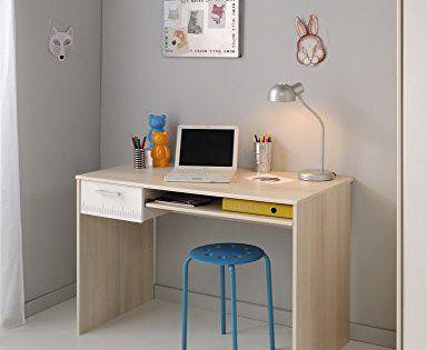 Parisot bure bureau u charly acacia clair blanc bois matière