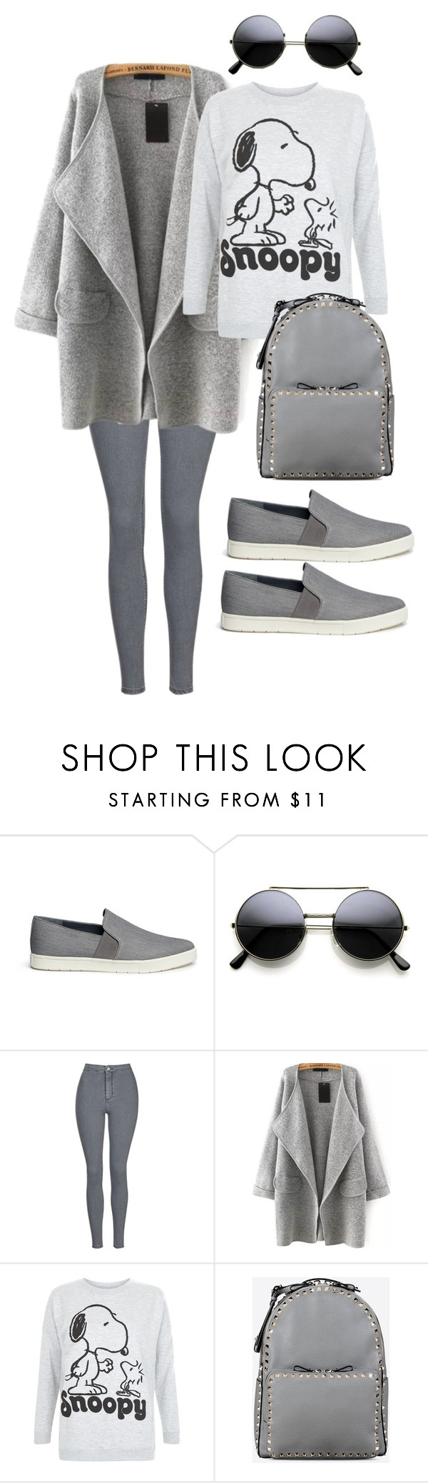 """""""Untitled #37"""" by lisiqv ❤ liked on Polyvore featuring mode, Vince, Topshop, Valentino, women's clothing, women's fashion, women, female, woman en misses"""