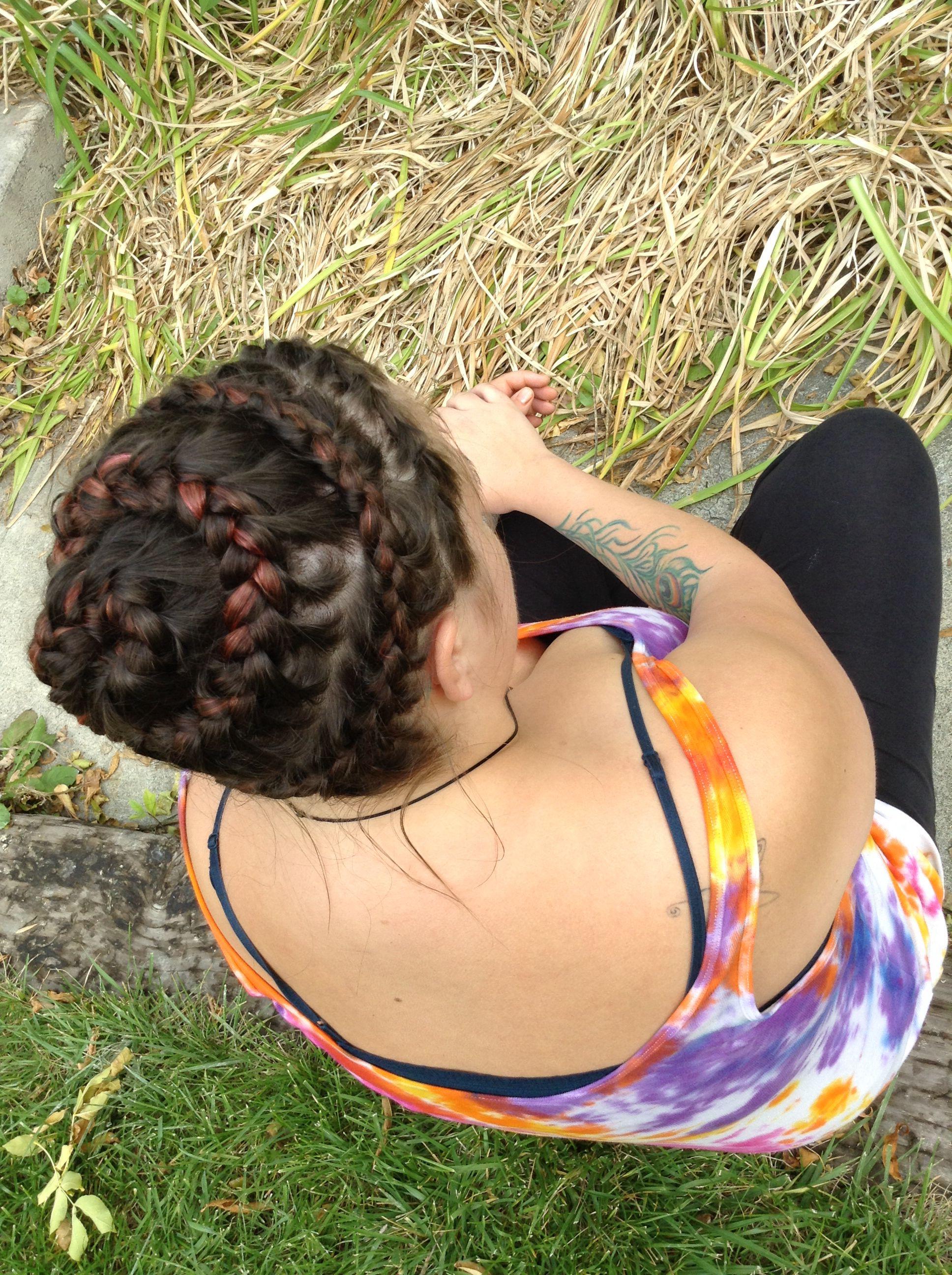Spiral crown braid