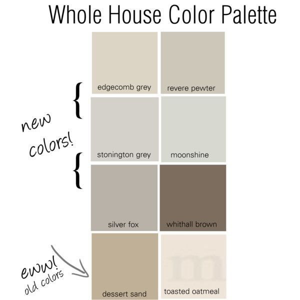 Whole house color palette pewter paint colors and for Good neutral paint color for whole house