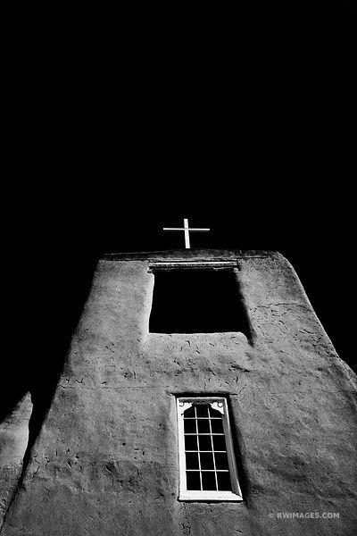 San miguel mission church santa fe new mexico black and white vertical fine art prints