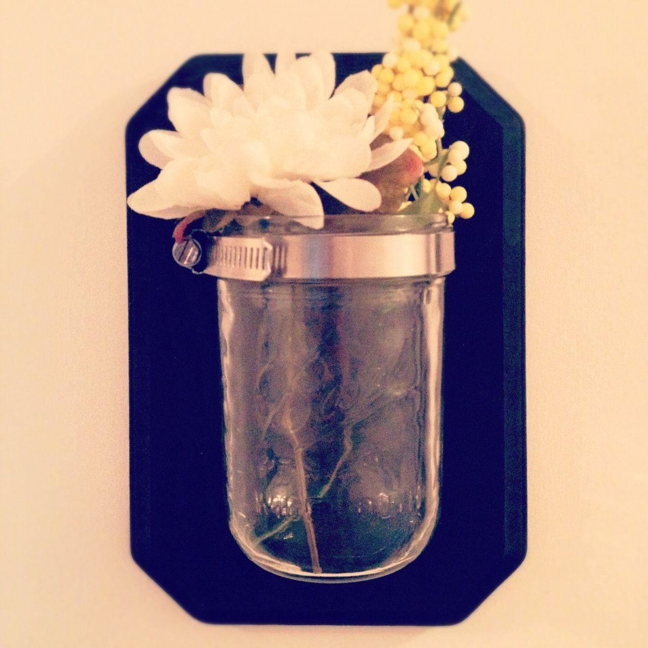 Diy Mason Jar Wall Sconces : DIY Mason Jar Sconce Made By Me Pinterest Mason jar sconce