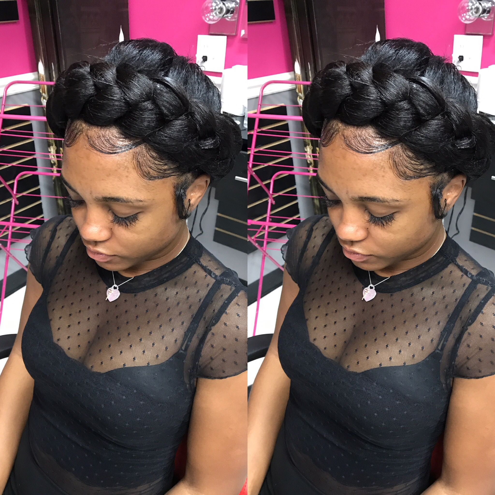 Crown Braid Halo Braids Feedin Braid Styledby Yalemichelle Hair Styles Stylish Hair Long Hair Styles