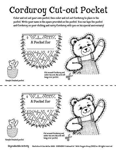 Doodle 4 Kindergarten Small Groups Corduroy Activities Book