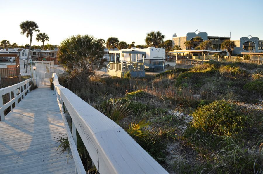 Back To RV Park From The Beach Bryn Mawr Ocean Resort St Augustine