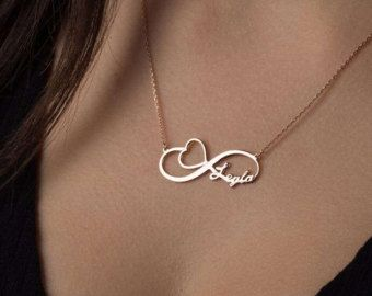 symbol pendant custom name jewelry personalized necklace single with silver item sterling infinity names