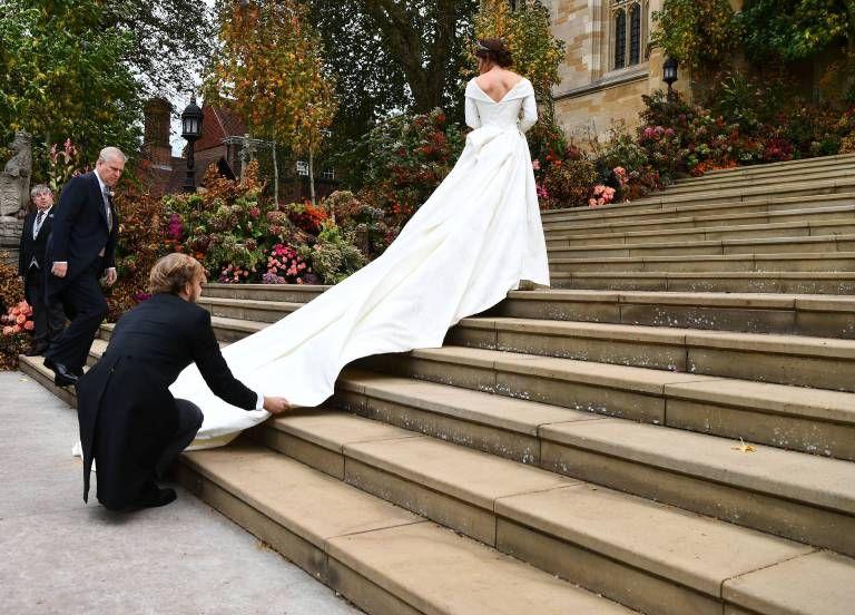 Die Hohepunkte Der Hochzeit Von Eugenie Und Jack Beruhmte Hochzeitskleider Prinzessin Eugenie Kleid Hochzeit