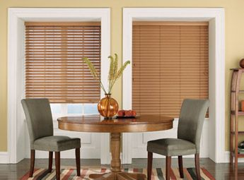 Dining Room Window Blinds Dining Room With Bali Faux Wood Blinds  Bali Faux Wood Blinds