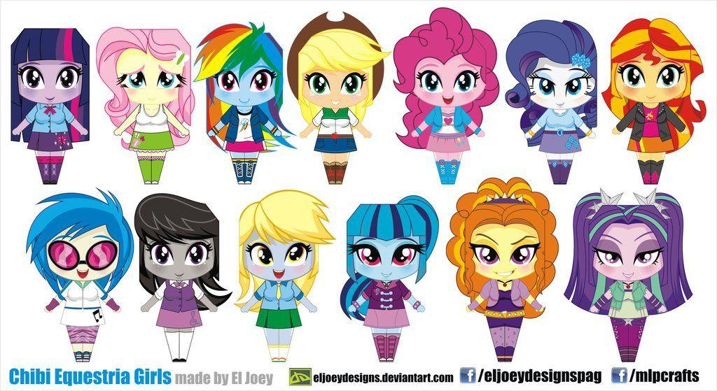 Chibi Equestria Girls by ELJOEYDESIGNS.deviantart.com on @DeviantArt