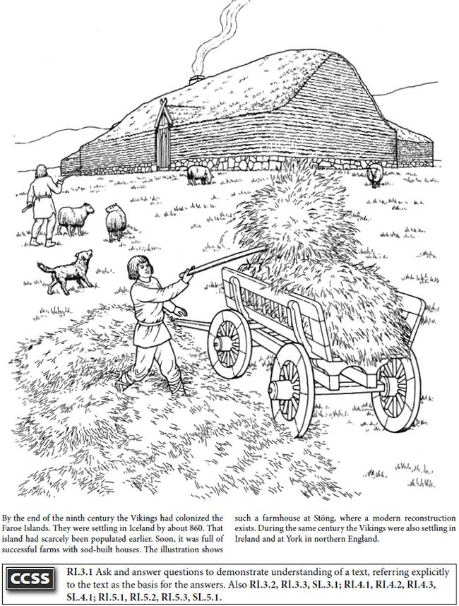 Boost Story Of The Vikings Coloring Book Dover Publications