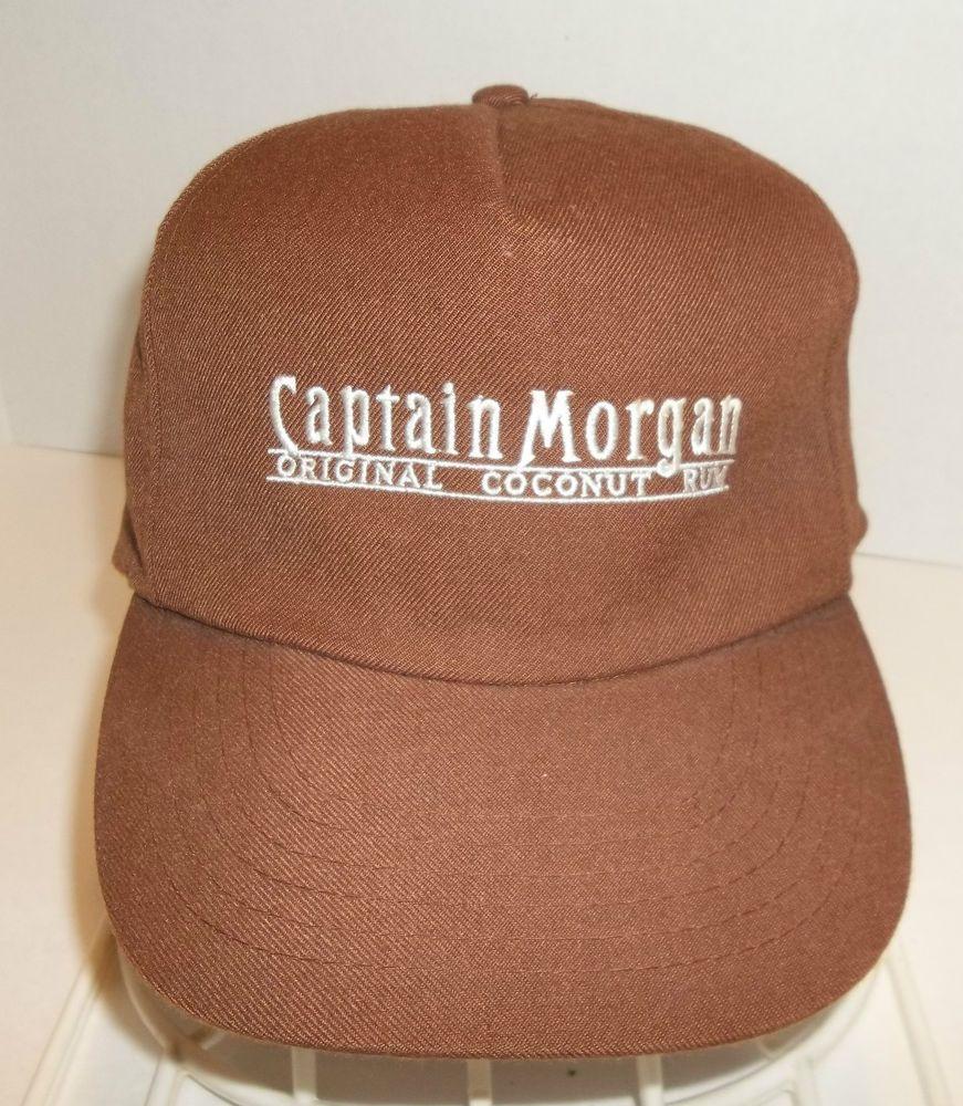 100431ad2b480 Captain Morgan Snapback  Hat  Original Coconut Rum 5 Panel Brown Cap Vintage   CaptainMorgan  Snapback 5 Panel  shopping  deals  ebay   thenandagaintreasures