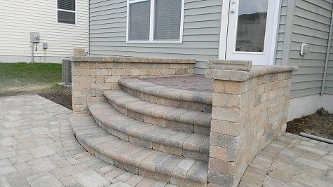 Raised Paver Patio Google Search Step Transitions Pinterest - Paver patio steps