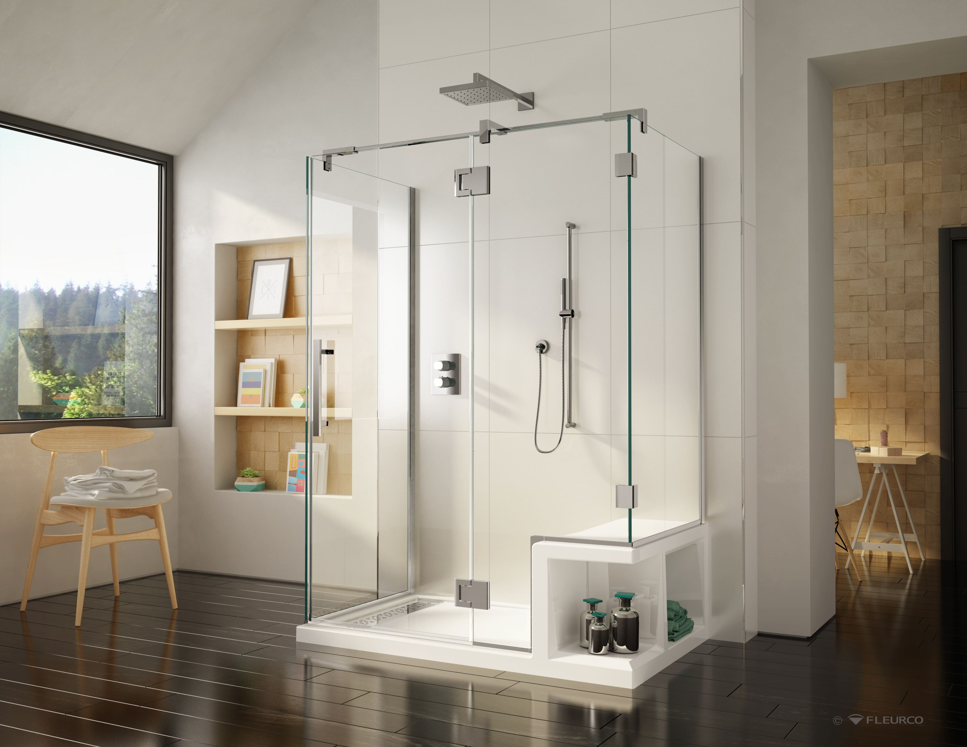 Beau CORTEROS The New Shower Base With Seat By Fleurco Www.fleurco.com #design