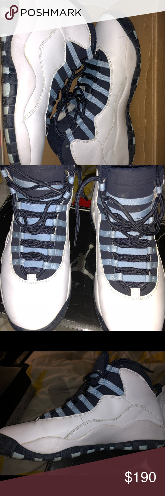 dbaa97c42472 Men s Air Jordan Original North Carolina Retro 10 Gently worn men s  Original North Carolina Retro 10. Released in 04  Size 10.5 slight scuff on  one shoe ...